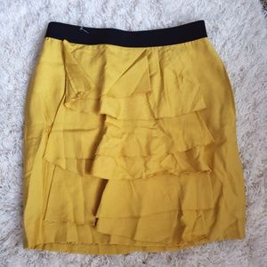 Bcbg Yellow skirt